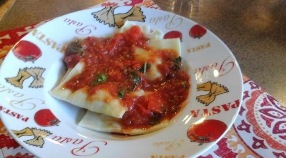 ravioli with pomodoro sauce